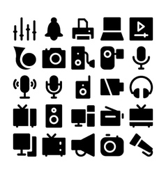 Multimedia icons 4 vector