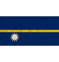 Nauru paper flag vector image vector image