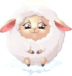 nyashnye sheep on a white background vector image vector image