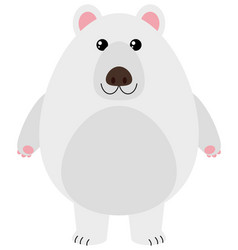 polar bear with happy face vector image vector image