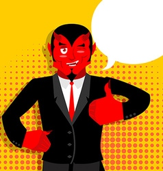 Satan hands shows thumbs up sign all right hand vector