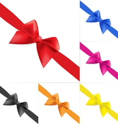 set of celebratory bows vector image vector image
