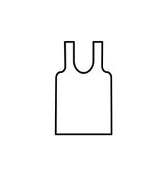 sleeveless t-shirt icon vector image