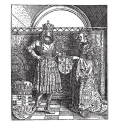 The emperor maximilian and his bride mary of vector