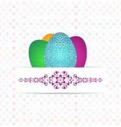 Three coloured eggs vector