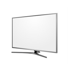 tv screen blank on white background vector image vector image