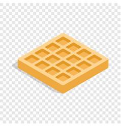 waffles isometric icon vector image