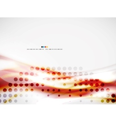 Wave abstract design template vector image
