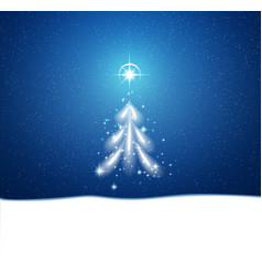 Winter blue background with blizzard and stars vector