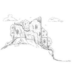 - castle landscape vector