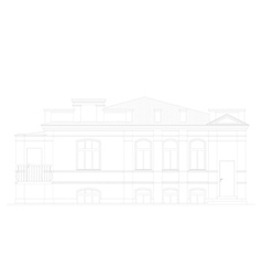 The facade of the building vector image
