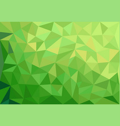 abstract green background with triangles vector image