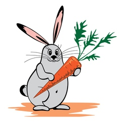 Rabbit and carrot vector