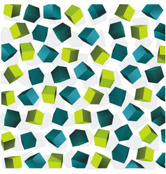 Abstract background of blue and green 3d cubes vector