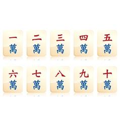 Mahjong number vector image