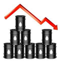 Falling oil price concept vector