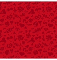 Sweet red valentine pattern vector