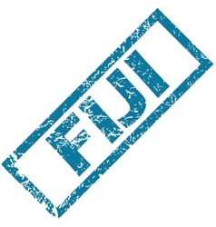 Fiji rubber stamp vector