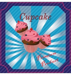 Cakes template poster vector