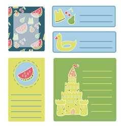 Beach collection of labels vector
