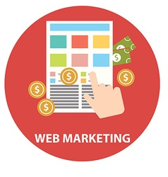 Flat design modern concept of web marketing vector