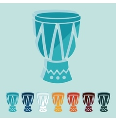 Flat design drum vector