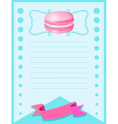Line paper design with pink macaron vector