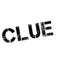 Clue black rubber stamp on white vector