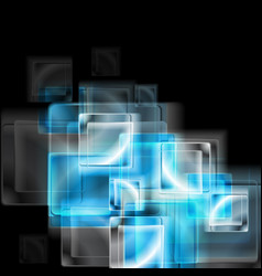 Abstract blue glass squares vector image vector image