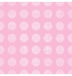 Abstract pink textile dots seamless pattern vector image vector image