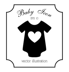 baby icon design vector image vector image