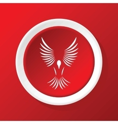 Bird icon on red vector