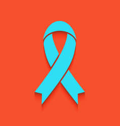 Black awareness ribbon sign whitish icon vector