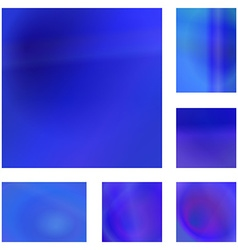 Blue abstract background design set vector