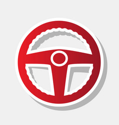 Car driver sign new year reddish icon vector