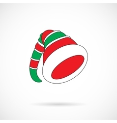 Christmas elf cap isolated over white vector