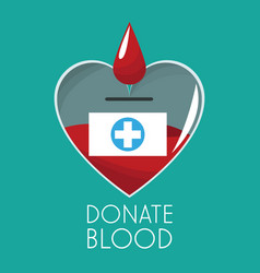 Donate blood campaign design vector