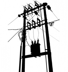 Electric transformer substation vector