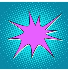 explosion comic bubble retro background for text vector image vector image