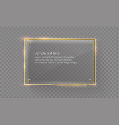 glass modern banner set with shiny golden vector image vector image