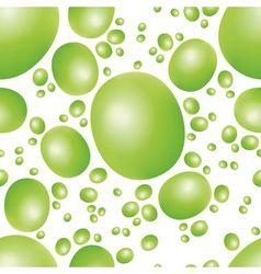 Green peas seamless pattern vector