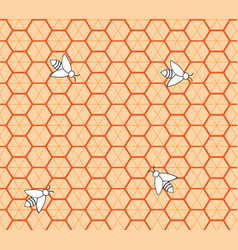 honeycomb seamless pattern 3 vector image