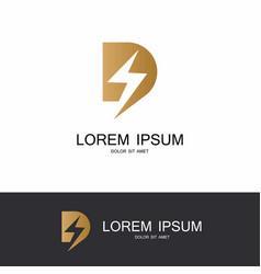 letter d energy logo vector image