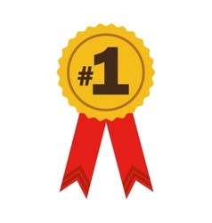 Number one ribbon award vector