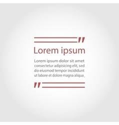 Quote text frame vector