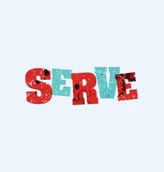 Serve concept stamped word art vector