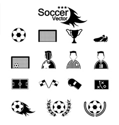 Soccer Icons set eps10 vector image vector image