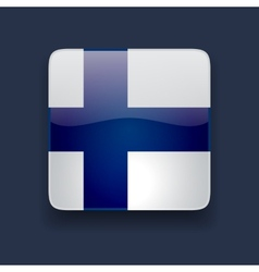 Square icon with flag of finland vector