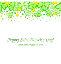 St Patricks Day holiday frame vector image