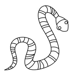 Striped snake icon outline style vector